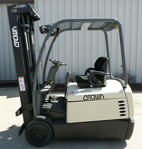 Crown Model Sc4540 40 2008 4000 Lbs Capacity Great 3 Wheel Electric Forklift