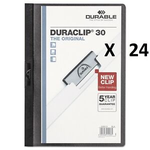 Duraclip 30 Report Cover 8 9 10 X 11 1 5 Clear Front Black 220301 24 Pack