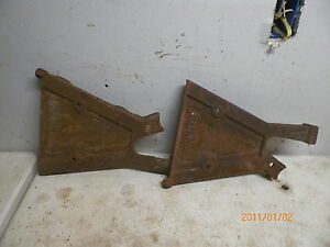 Pair Old Ci Horsedrawn Monitor Grain Drill Seed Box End Panels A960