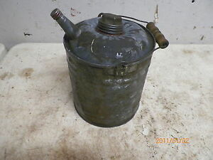 Old 1 Gallon Galvanized Metal Fuel Can