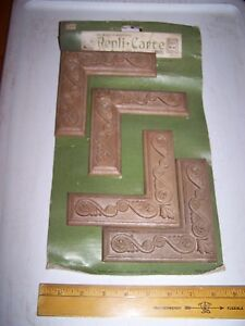 1970 Original Furniture Decorative Trim Molding Parts Pieces Corner 2