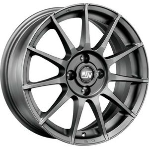 Msw Alloy Wheels Smart Fortwo Forfour 453 16 Inch Grey By Oz Msw 85 Whole Set