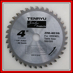 Tenryu 36 Tooth Carbide Blade 4 Inch For Dremel 580 580 2 588 588 2 Table Saw