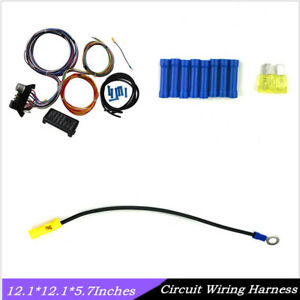 1 Set Universal Autos Multicolor 12 Circuit Basic Wire Harness Rod Wiring Dc12v