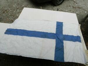 X Large Antique Maritime Findland Navy Sectional Signal Flag 3 X 5 Feet