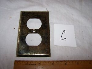 Vintage Metal Textured Light Outlet Cover Gold Tones Mid Century Modern Lot C