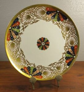 19th Century Copeland Imari Japanese Fan Plate Worcester Dr Wall Pattern