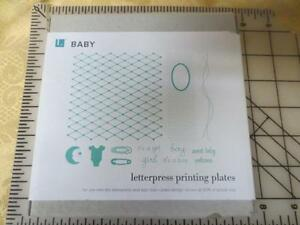 New Nib Lifestyle Crafts Letterpress baby Printing Plates Others Are Available