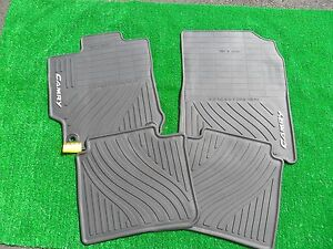 2012 2014 Toyota Camry Black All weather Floor Mats 4 Piece Oem Pt908 03120 20