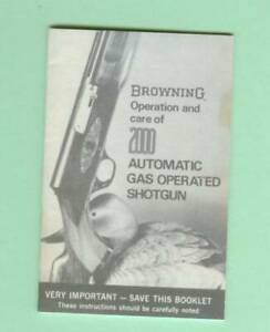 Browning Model 2000 B2000 Owners Manual Reproduction