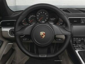 Porsche 911 991 Boxster Cayman Steering Wheel Manual Black Leather