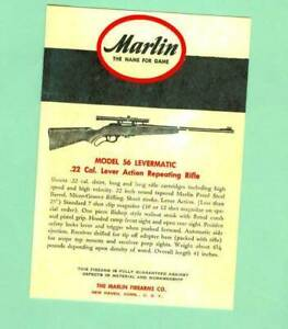 Marlin Model 56 Levermatic Owners Manual Reproduction