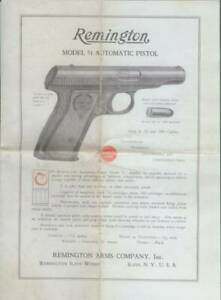 Remington Model 51 380 Caliber Factory Owners Instructions Manual Reproduction