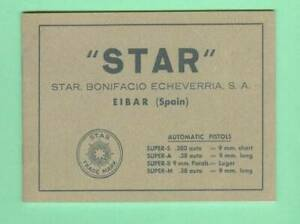 Star Model Super S A B M Owners Manual Reproduction