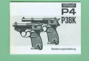 Walther Model P4 P38k Owners Manual Reproduction