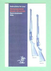 Winchester Model 190 Later And 290 Owners Manual Reproduction