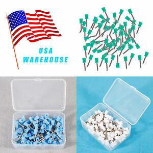 100 Dental Rubber Prophy Teeth Polish Polishing Cups Brush Latch Type 3color Us