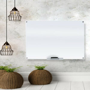 Glass Dry Erase Board Whiteboard For Office And Home 23 5 8 X 35 1 2 Inches