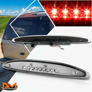 For 97 02 Ford Expedition Full Led Third 3rd Tail Brake Light Stop Lamp Chrome