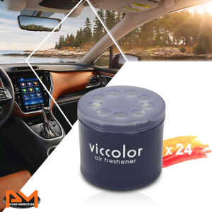 X24 Viccolor Car bathroom Air Freshener Lasting Light Squash Scent Fragrance 85g