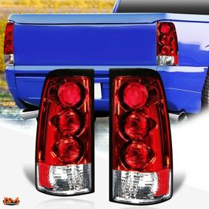 For 99 03 Chevy Silverado Pickup Altezza Tail Light Rear Brake Lamp Red clear