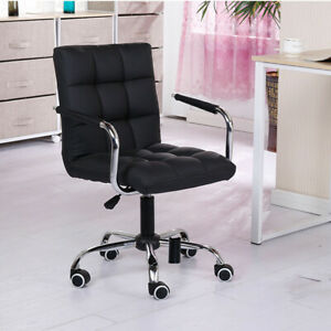 Midback Executive Modern Office Chair Computer Desk Task Pu Leather Swivel Us
