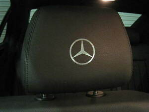 4 Mercedes Benz Logo Headrest Badge Decal