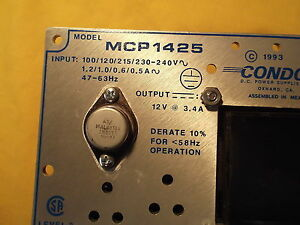 Power Supply Condor Mcp1425 Input 100 240 Output 12 Vdc 3 4 Amp