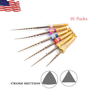 10 X Easyinsmile Dental Endodontic X taper Gold Niti Rotary File Fit Endo Motor