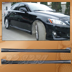In S Style Pu Side Skirts Body Kit Polyurethane For 06 13 Lexus Is250 Is350