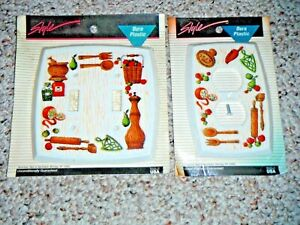 Vintage Kitchen Outlet Double Switch Covers Nos American Tack Hardware Retro