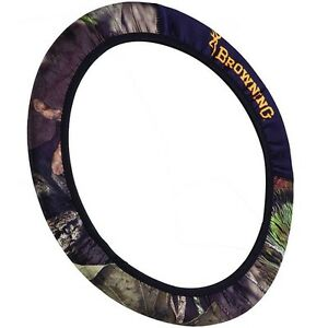 Browning Mossy Oak Country Steering Wheel Cover Camo Car Truck Neoprene