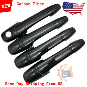 Carbon Fiber Style Door Handle Trim For Mazda 3 5 6 Rx8 Mustang Fusion Edge Mkz