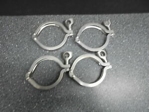 Lot Of 4 3 Tri clover Double Hinged Ss Sanitary Clamp