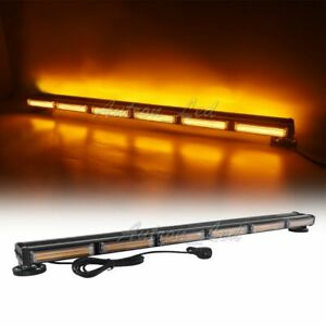 38 Amber Cob Led Warning Emergency Response Rooftop Tow Truck Strobe Light Bar