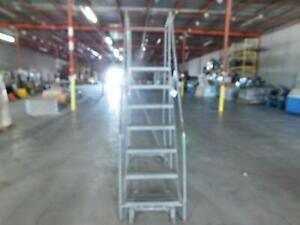 Cotterman 1098 Rolling Steel Ladder 7 Step 100 Inches H T136164