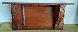 Eastlake Antique Vtg Wood Hanging Wall Clock Shelf Victorian Aesthetic 19 X10