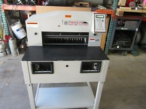 Martin Yale Powerline Electric Paper Cutter Pl250 used