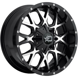 20x10 Black Machined Dropstars 645mb 8x170 19 Rims Country Hunter Mt Tires