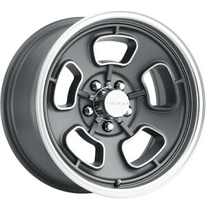 17x9 Gray Machined Vision Shaker 148 Wheels 5x4 75 0 Fits Chevrolet S10 2wd