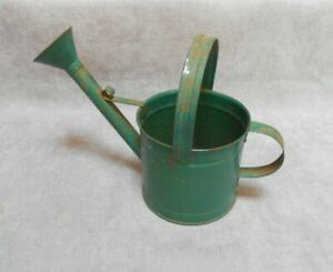 French Vintage Green Tole Watering Can