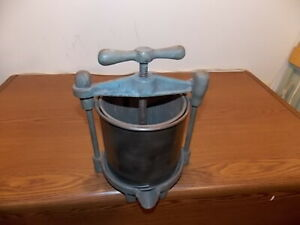 Antique Handy Fruit Wine Press Original Paint