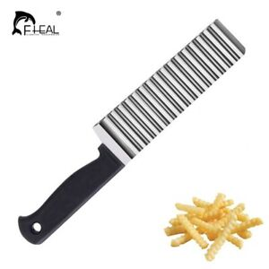 Potato Cutter Stainless Wave Steel Cooking Tool French Fry Potato Chip Waffle