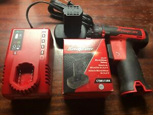 New Snap On 14 4v Microlithium Cordless Red Screwdriver Kit Cts761a 2 Batt