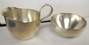 Nice Sterling Silver Sugar And Creamer Set Anlaufgeschutzt Paper Label Marked