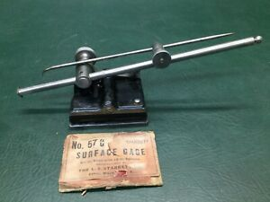 Vintage Starrett No 57c Surface Gage 12 Spindle