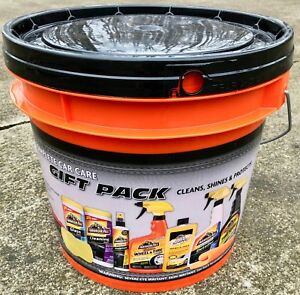 Armor All Complete Car Auto Care Gift Pack Set Bucket 10 Pieces Kit Detailing