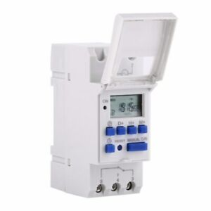 Electronic Microcomputer Digital Timer Lcd Power Programmable Switch Relay Din