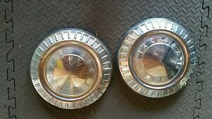 1950 S Pontiac Dog Dish Small Hub Caps 2 Good Condition