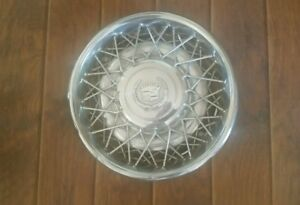 1976 85 Cadillac Fleetwood Wire Hub Cap Wheelcover 1